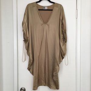 Lanvin Silk Gold Cocoon Dress